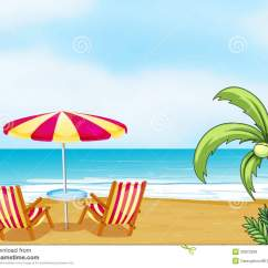 Beach Chair And Umbrella Clipart High Seat Cover Free Clipground