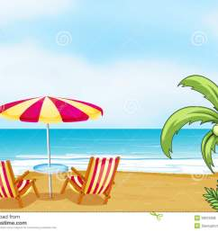 beach chair and umbrella free clipart  [ 1300 x 1031 Pixel ]
