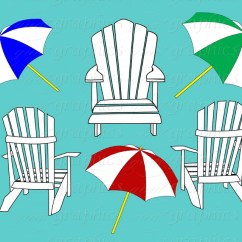 Beach Chair And Umbrella Clipart Hanging Plans Chairs Clipground