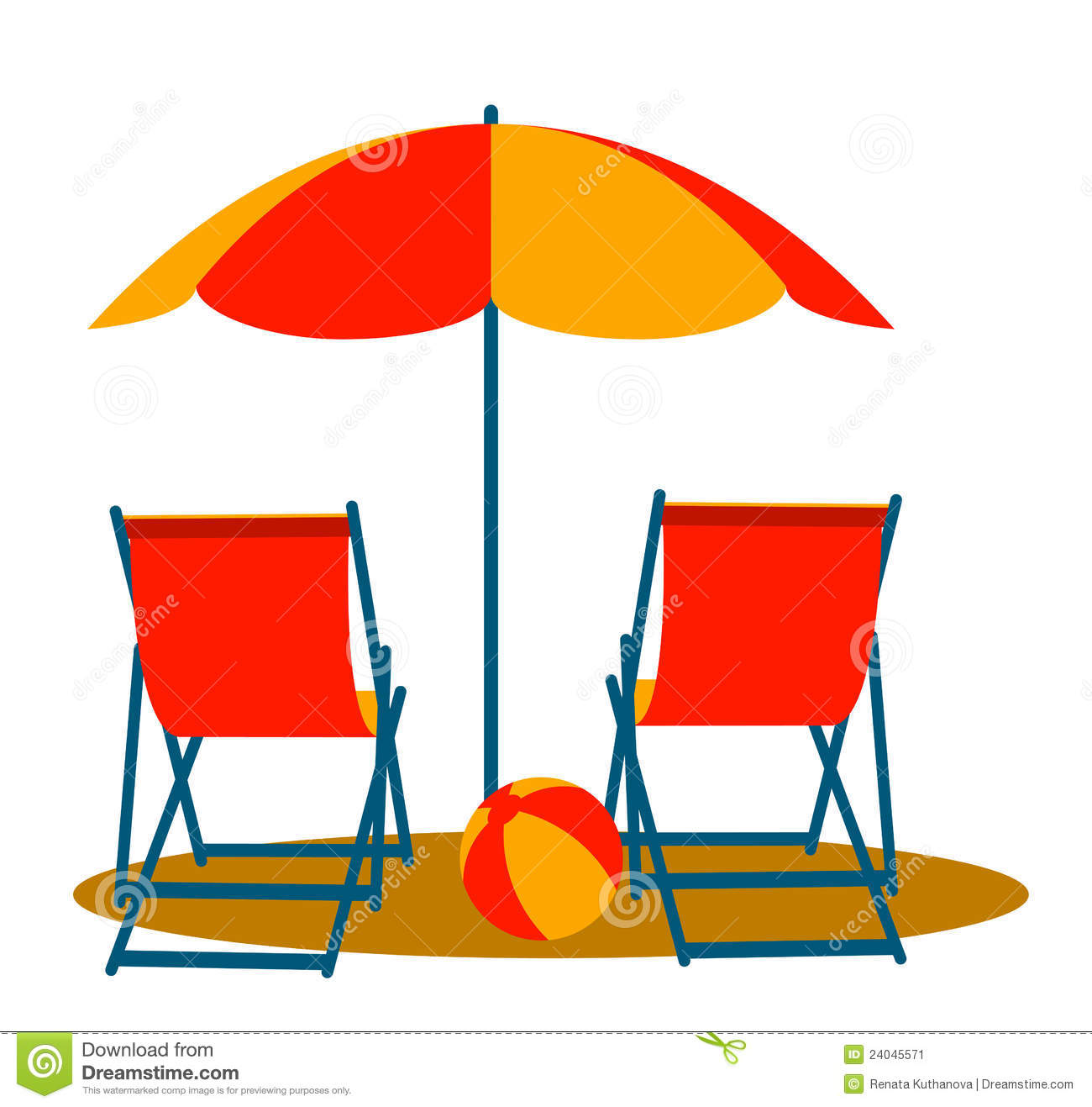 beach chair and umbrella clipart dining table covers online chairs clipground