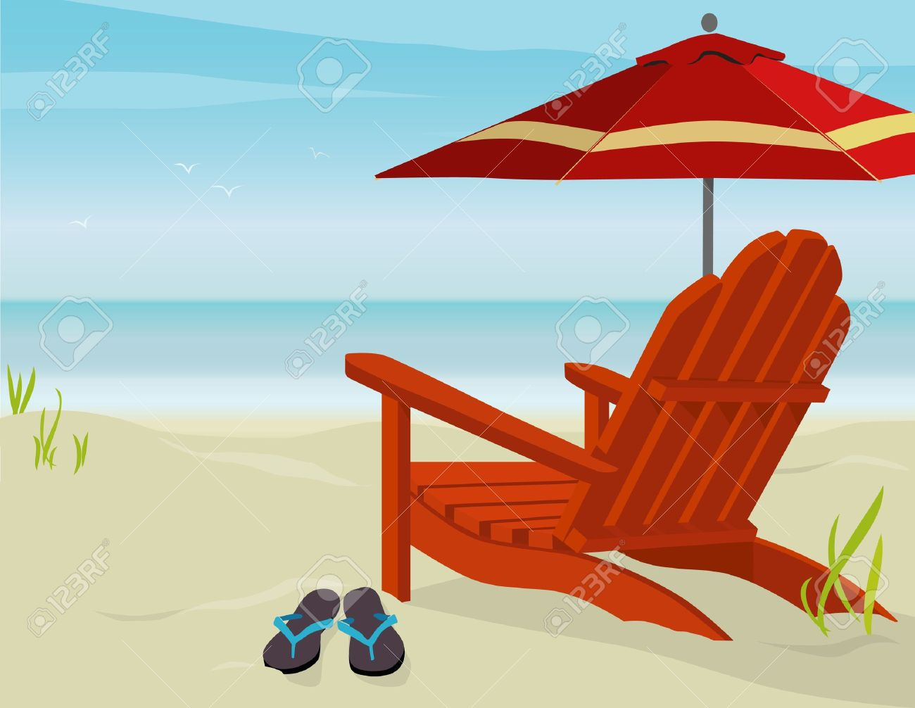 Beach chairs clipart  Clipground