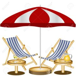 Beach Chair And Umbrella Clipart Ergonomic Gaming Sunshade Clipground
