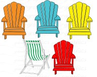 Beach chairs clipart - Clipground