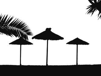 silhouette beach clipart svg tropical clip silhouettes transparent cliparts trees microsoft library clipground graphic leaves landscape 2400 1800 info