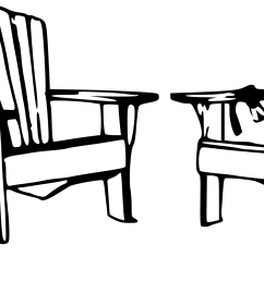 beach chair clipart black and white  [ 2394 x 1145 Pixel ]