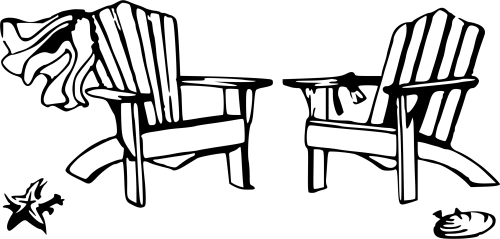 small resolution of beach chair clipart black and white