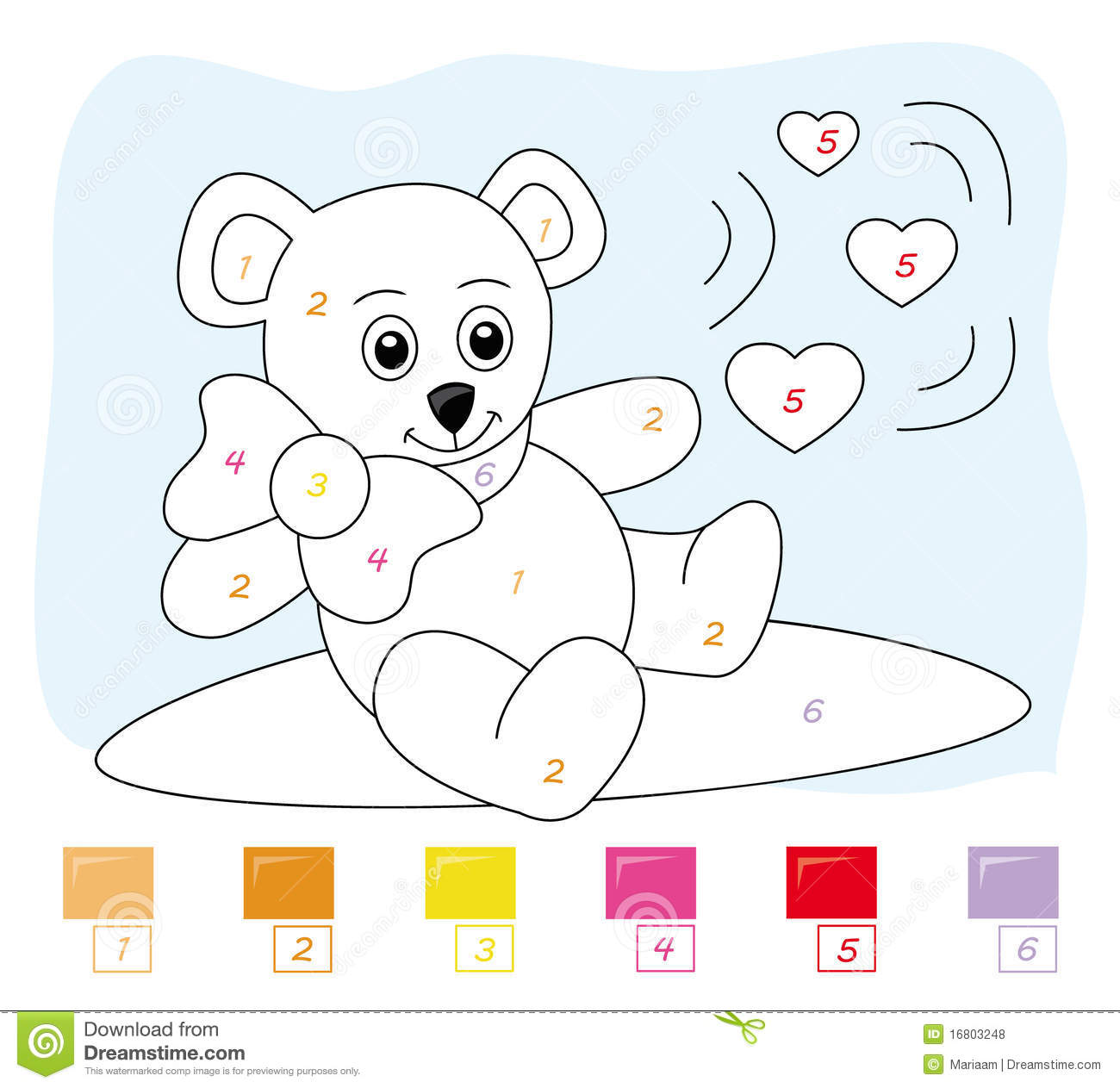Bear Numbers Clipart