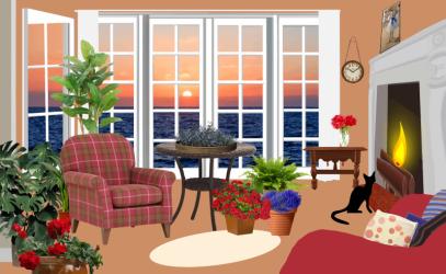 clipart room living views clip