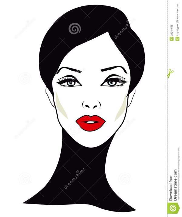 Woman Face Clip Art