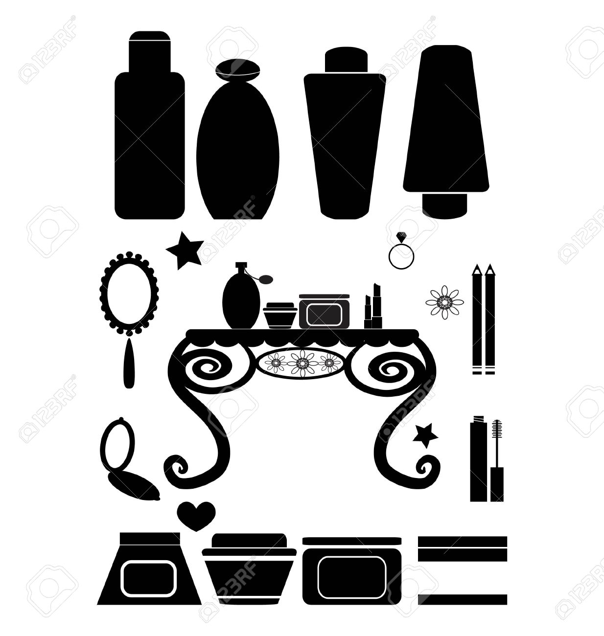 Beauty Product Clipart