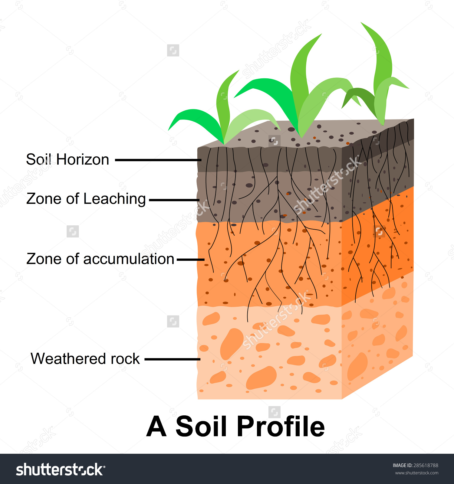 soil layers diagram 220 volt air conditioner wiring bedrock clipart clipground