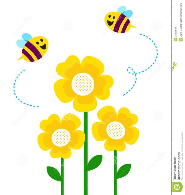 bee flower clipart - clipground