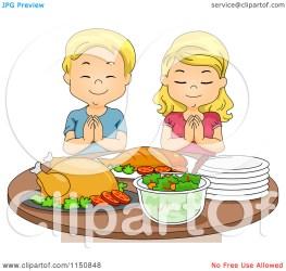 praying clipart before boy eat cartoon feast blond pray royalty vector food bnp studio clipground illustration copyright