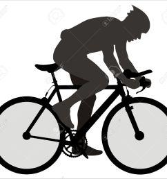 cyclist clipart  [ 1300 x 1151 Pixel ]