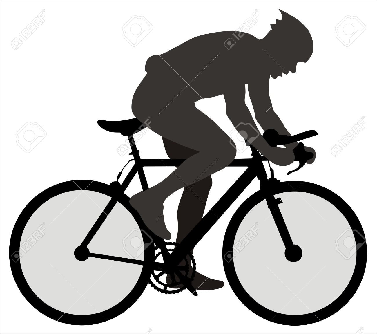 hight resolution of cyclist clipart