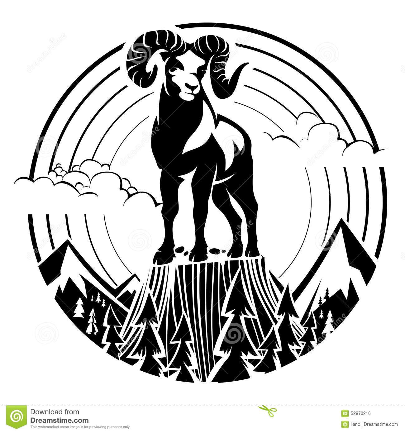 Rocky Mountain Sheep Clipart