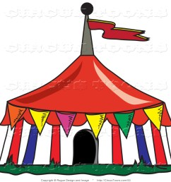 circus clipart of a colorful triangular flags around a big top circus [ 1024 x 1044 Pixel ]