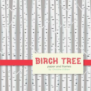 Birch trees clipart  Clipground