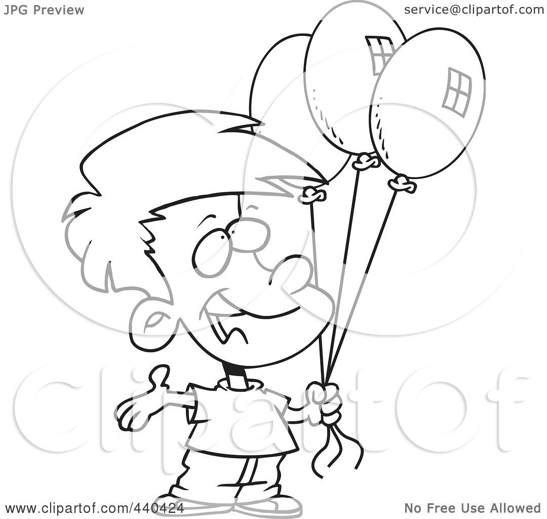 Birthday Boy Outline Clipart 20 Free Cliparts