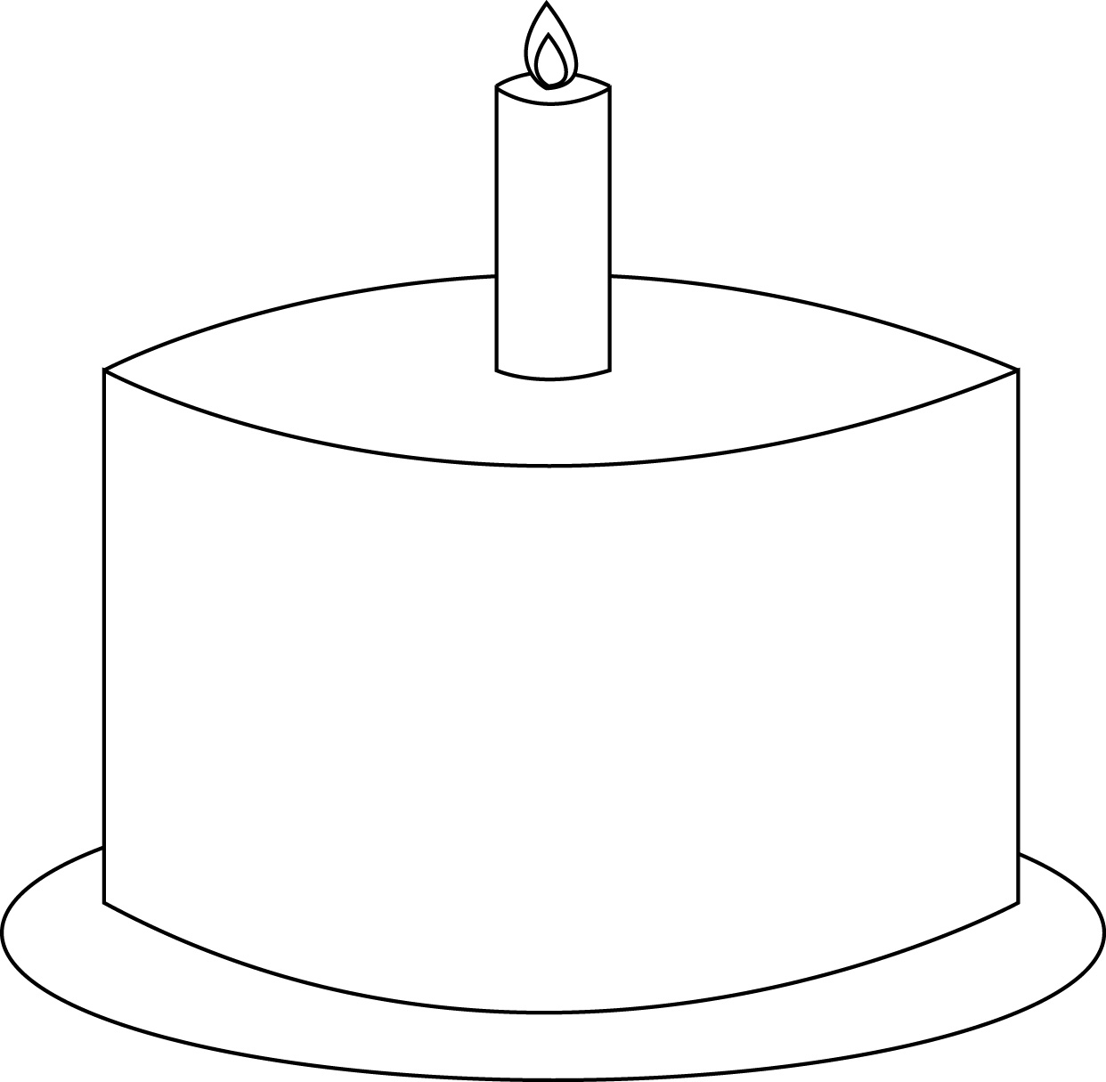 Birthday Cake Outline Clip Art 20 Free Cliparts