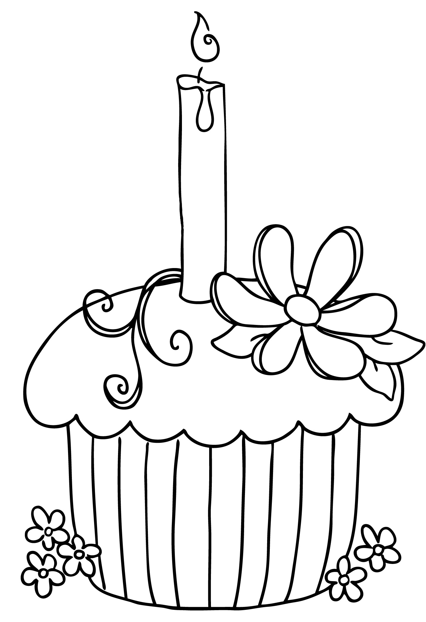 Birthday Candles Clipart Black And White