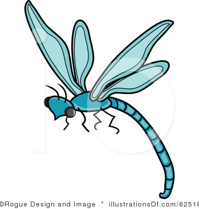 black and blue dragonfly clipart
