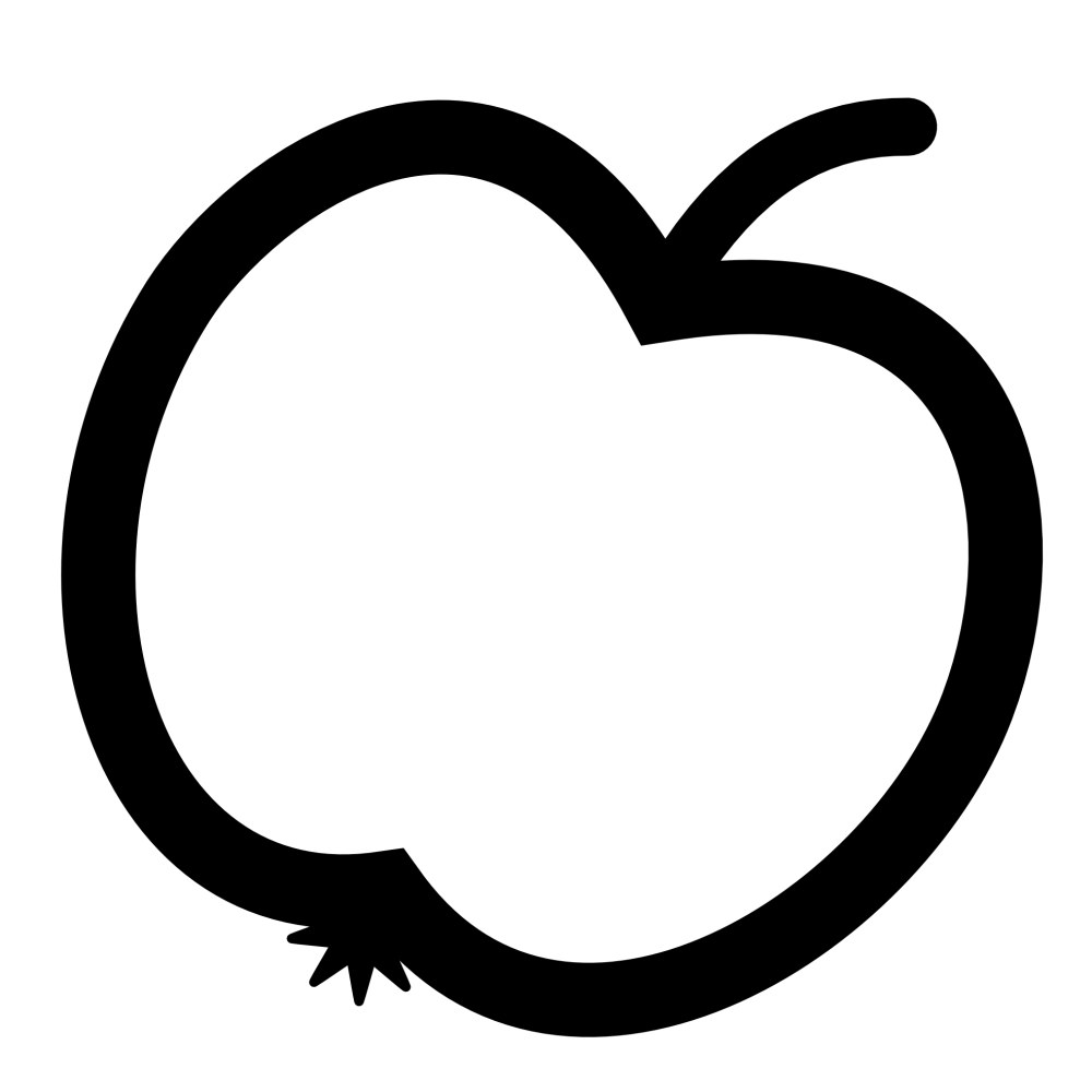 medium resolution of apple tree clipart black and white