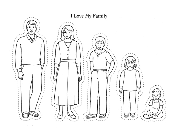 black and white clipart family members 20 free Cliparts