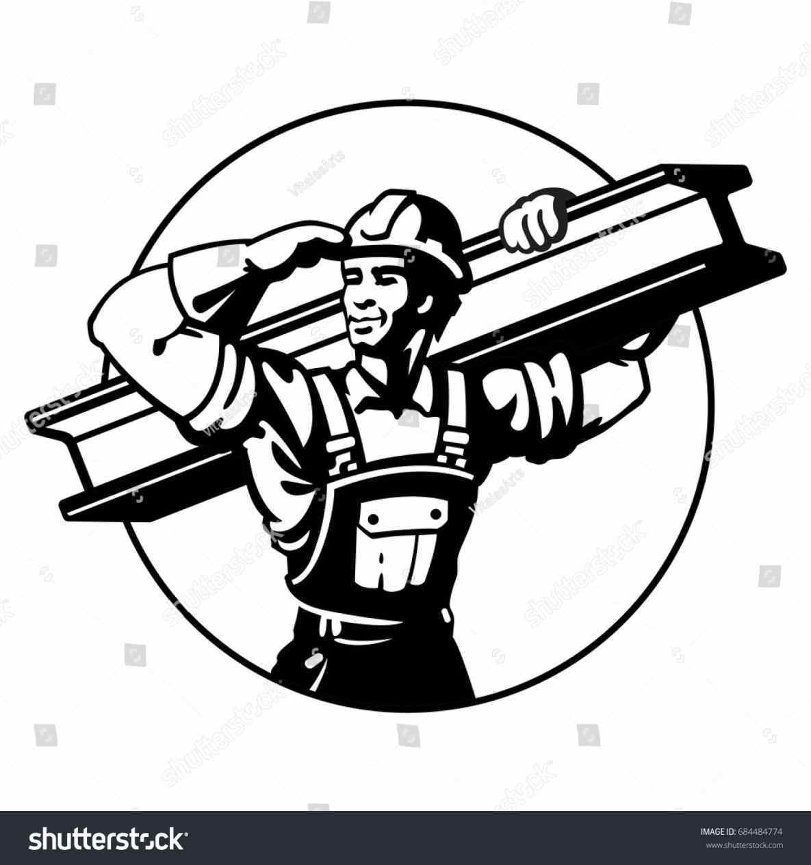 Black And White Construction Clipart 10 Free Cliparts
