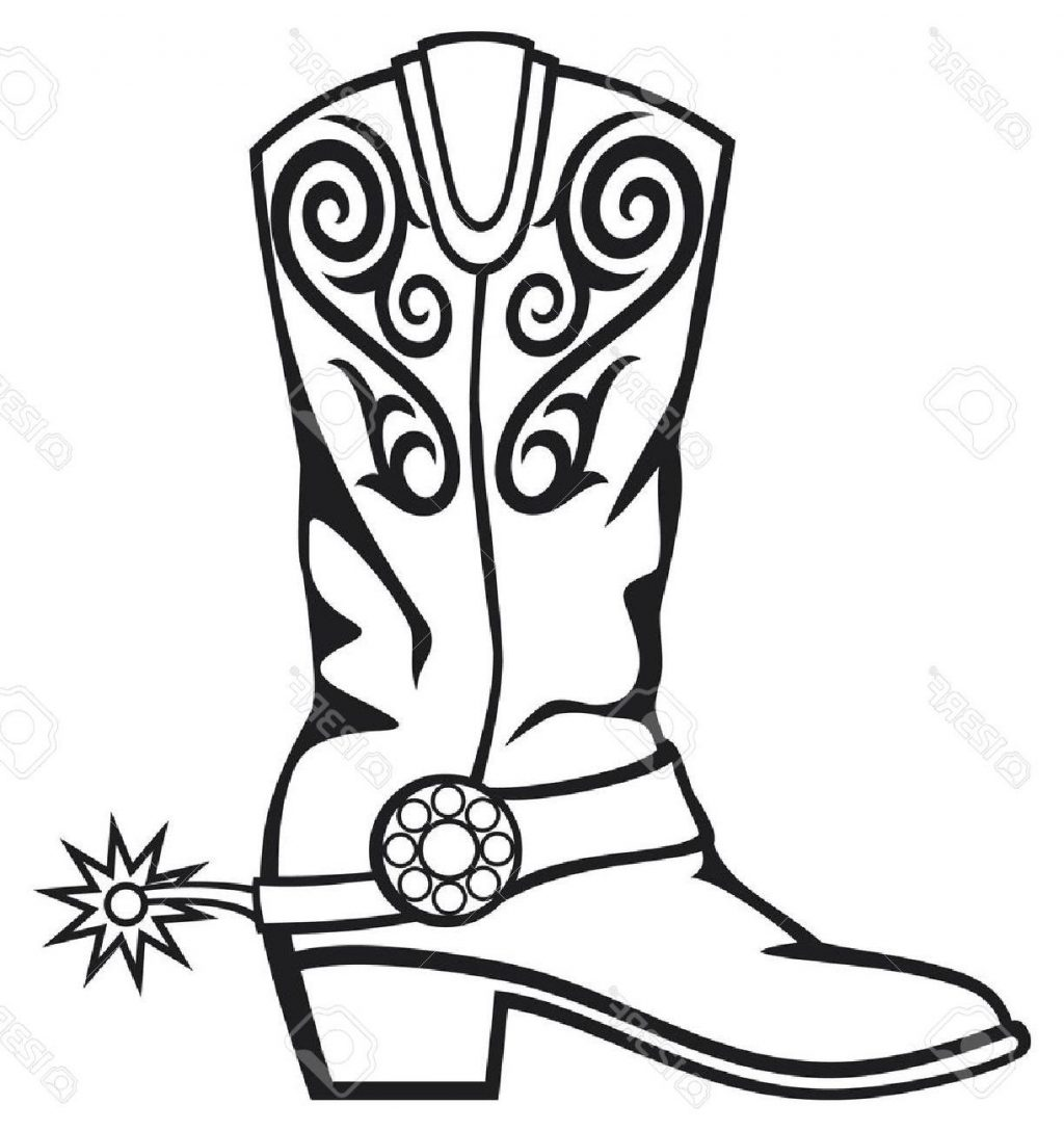 Black And White Cowboy Boots Clipart 10 Free Cliparts
