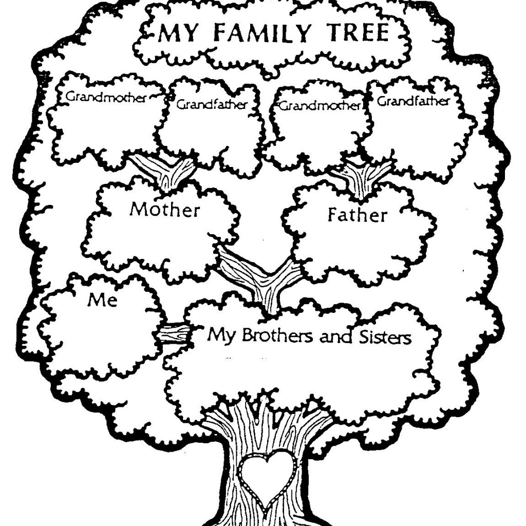Black And White Family Tree Clipart