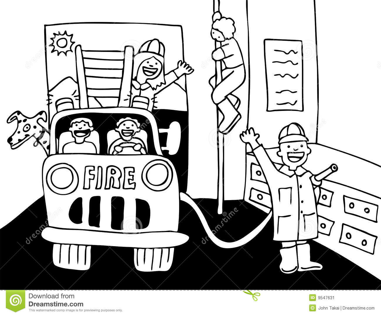 Black And White Fire House Clipart 20 Free Cliparts