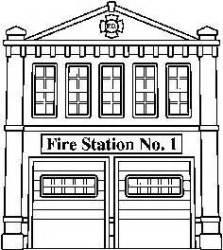 fire station clipart coloring clip pages firefighter room outline building truck department printable boy sheet trucks clipground cliparts