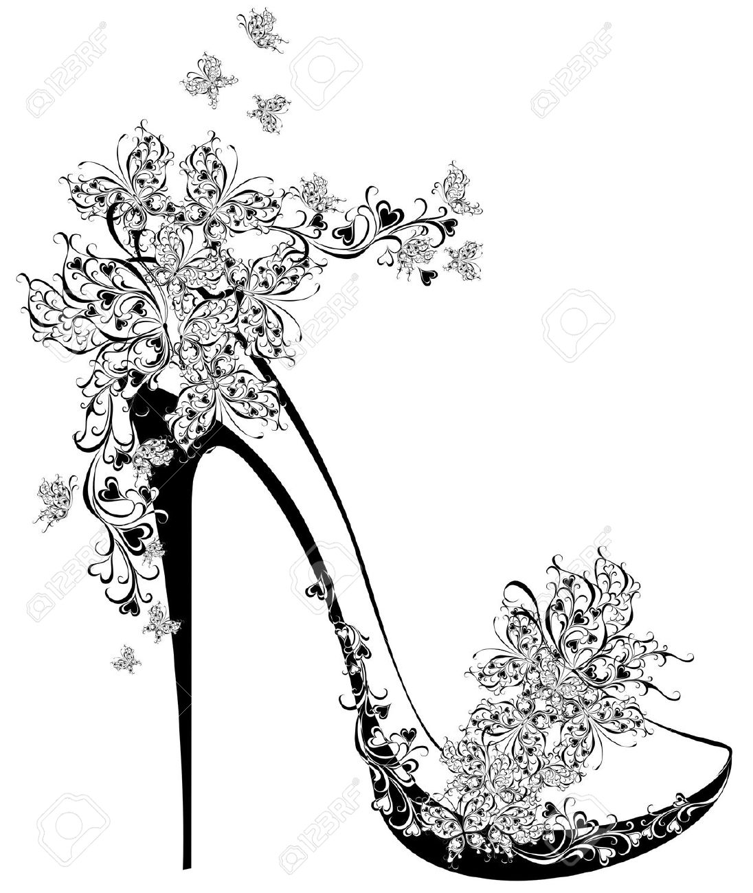 Black And White High Heels Clipart 20 Free Cliparts