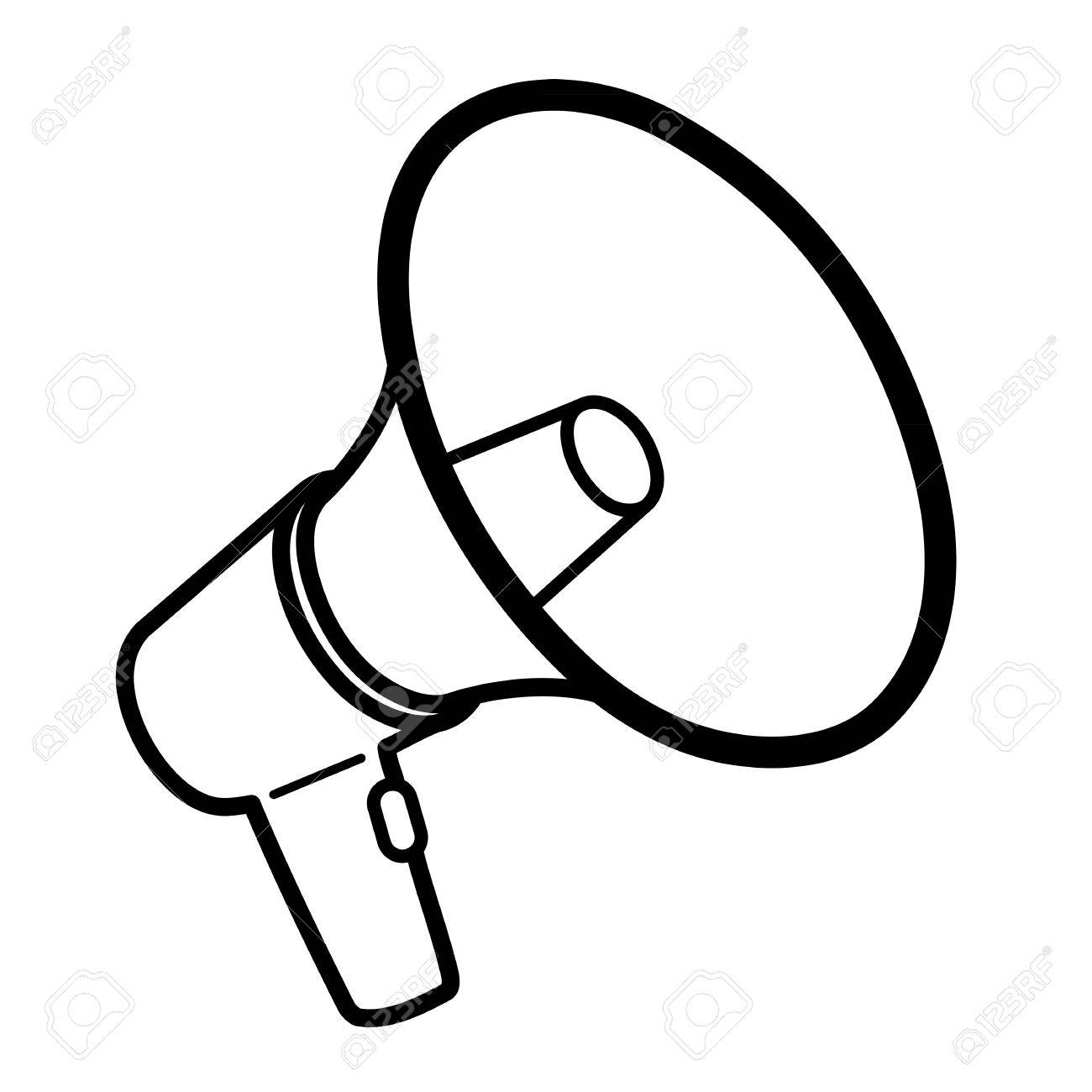 black and white megaphone clipart 20 free Cliparts