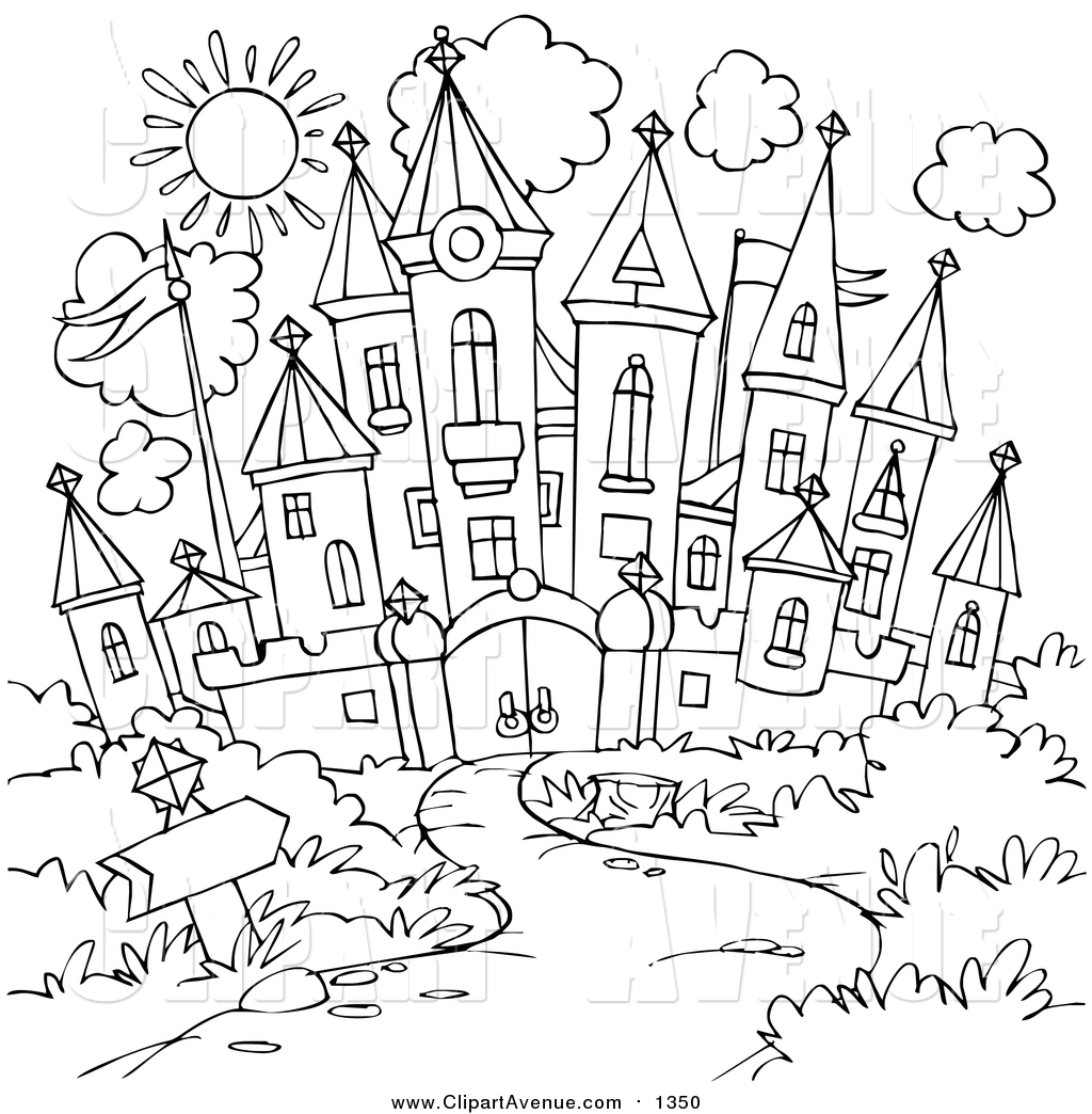 Black And White Path Clipart