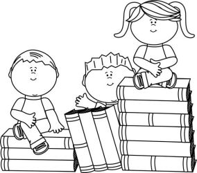 children clip reading clipart borders clipground middle thrive