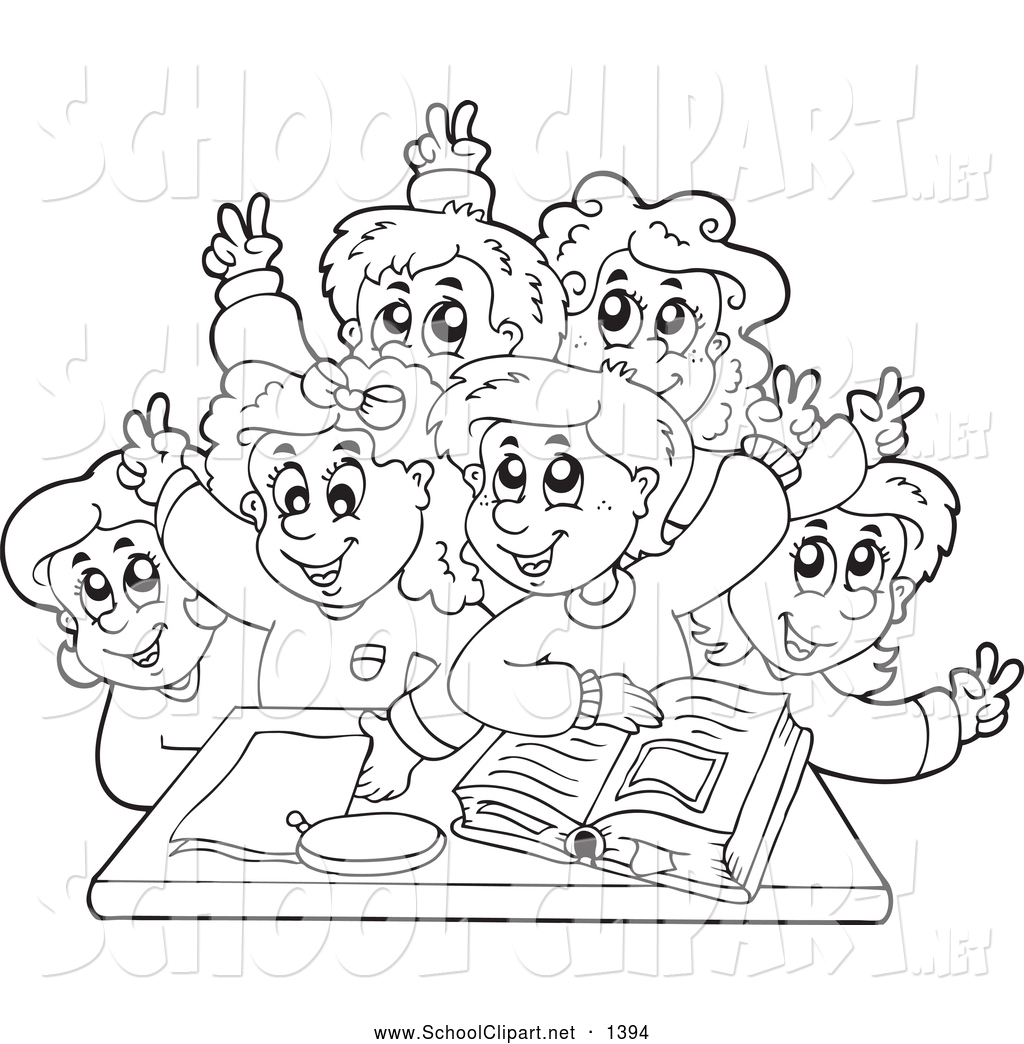 Group Of Students Clipart Black And White 10 Free Cliparts