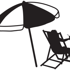 Beach Chair And Umbrella Clipart Cheap Wooden Dining Table Chairs Black Clipground