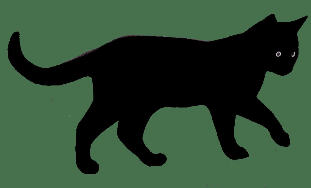 medium resolution of black cat clipart