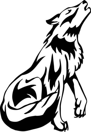 drawing clipart wolf drawings clipground cliparts