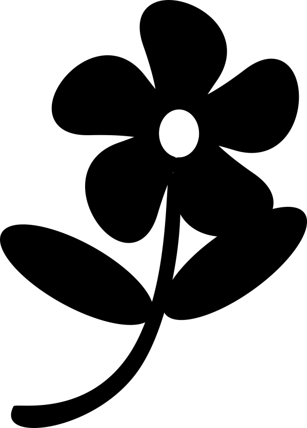 black flowers clipart - clipground