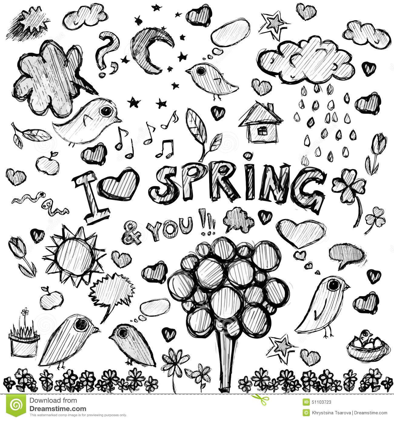 Black Spring Clipart