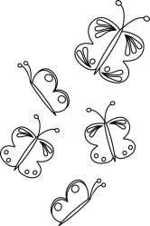 butterfly butterflies clip flying clipart outline cliparts graphics clipground