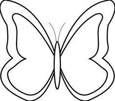 butterfly clipart outline clip butterflies cliparts simple flowers line tattoos drawing fish clipground coloring graphics clipartmag library flower pages vector