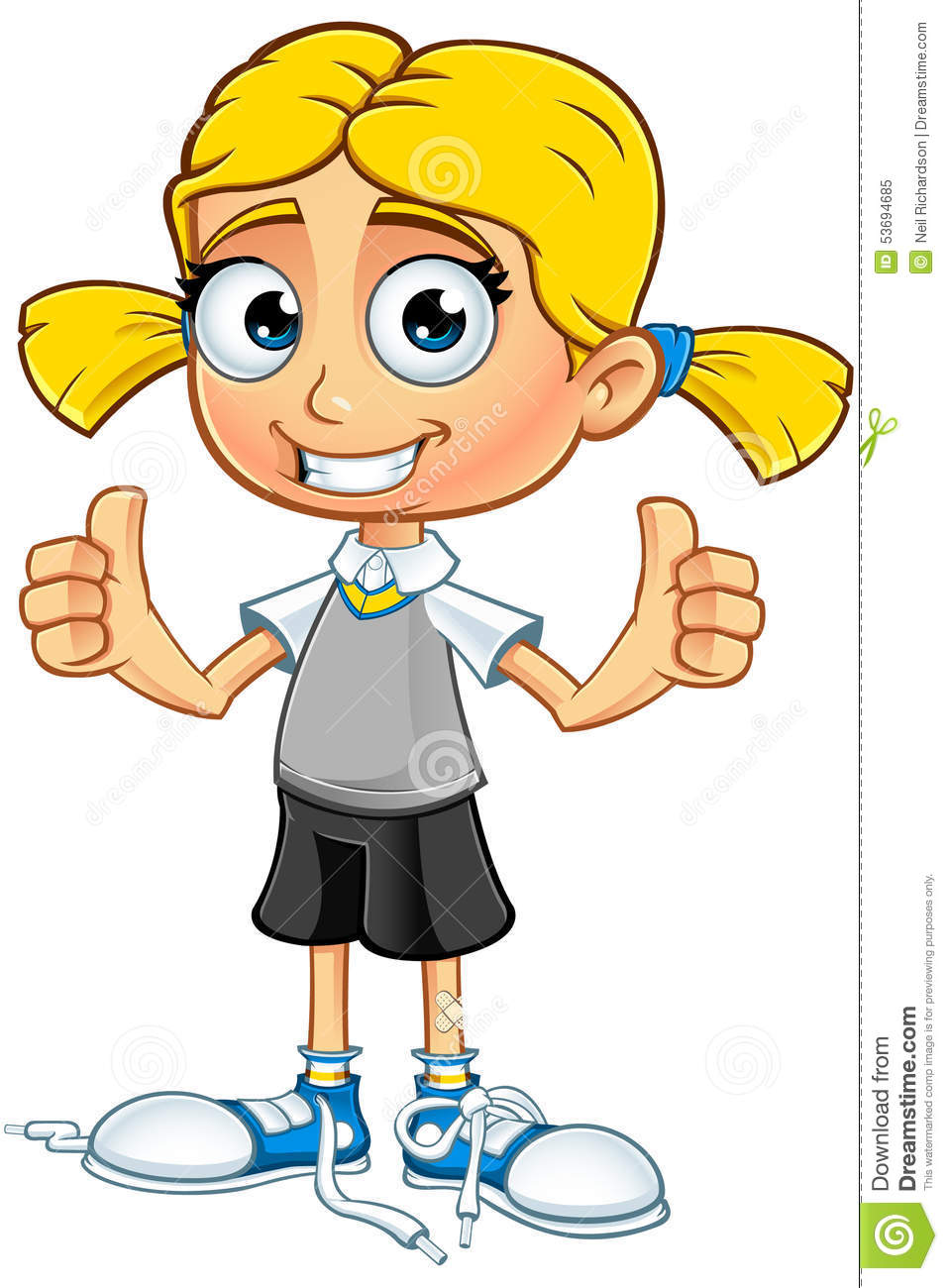 medium resolution of blonde school girl character
