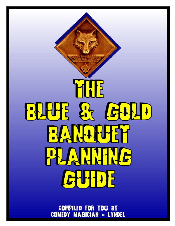 blue and gold banquet clipart