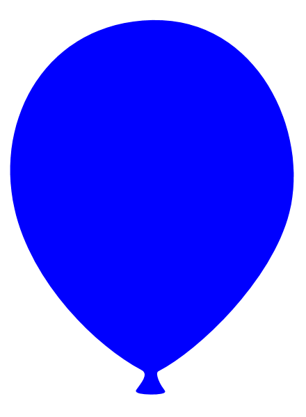 blue balloon clipart - clipground