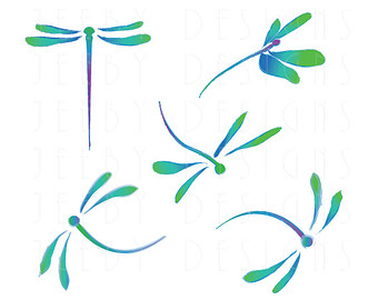 blue dragonfly clipart - clipground