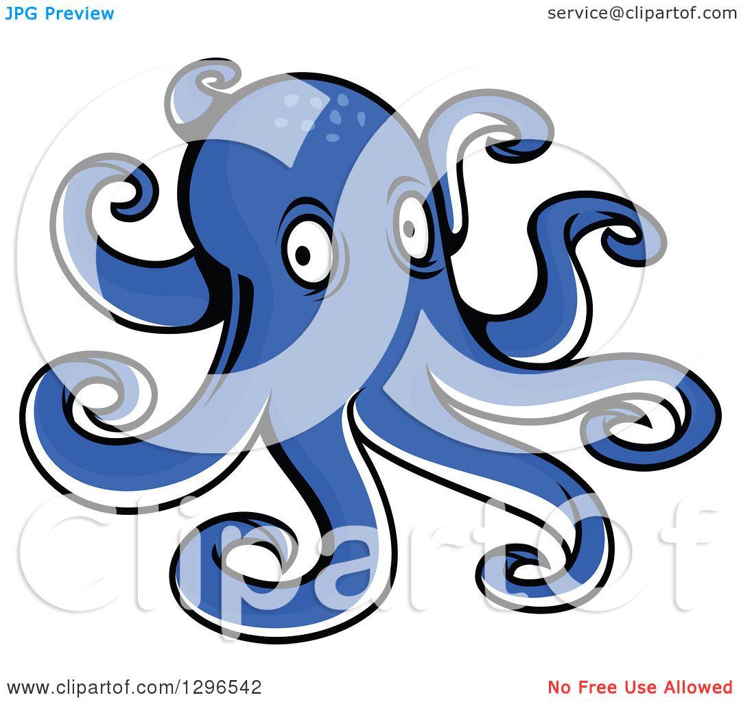 hight resolution of clipart of a cartoon blue octopus